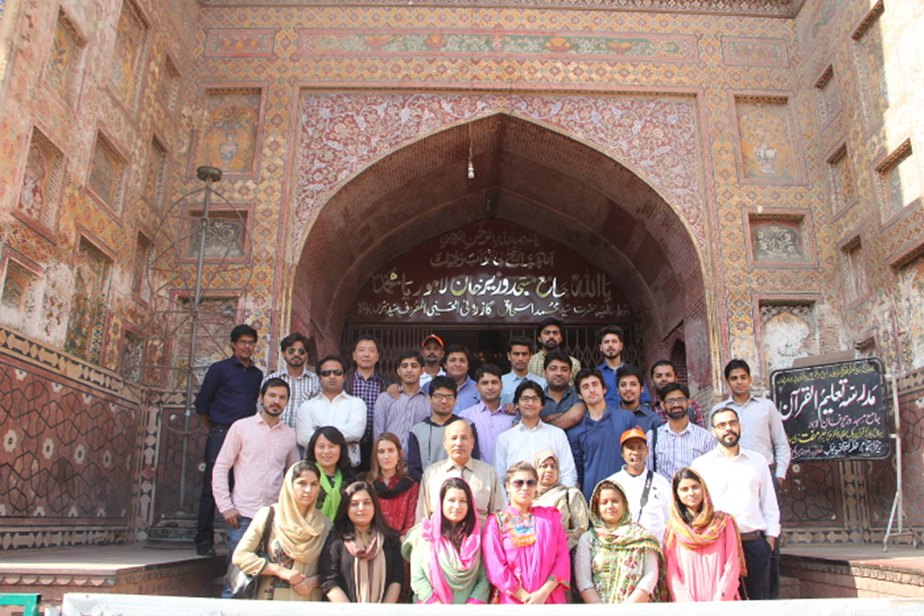 Students from Government College University visit the Walled City of Lahore