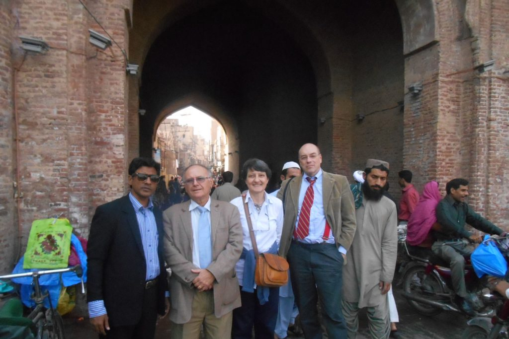 Delegation from Italy visits the Walled City of Lahore